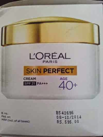 Loreal Paris Skin Perfect 40+ Anti Aging + Whitening Cream Review ...