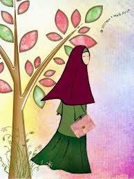 gambar kartun busana muslim