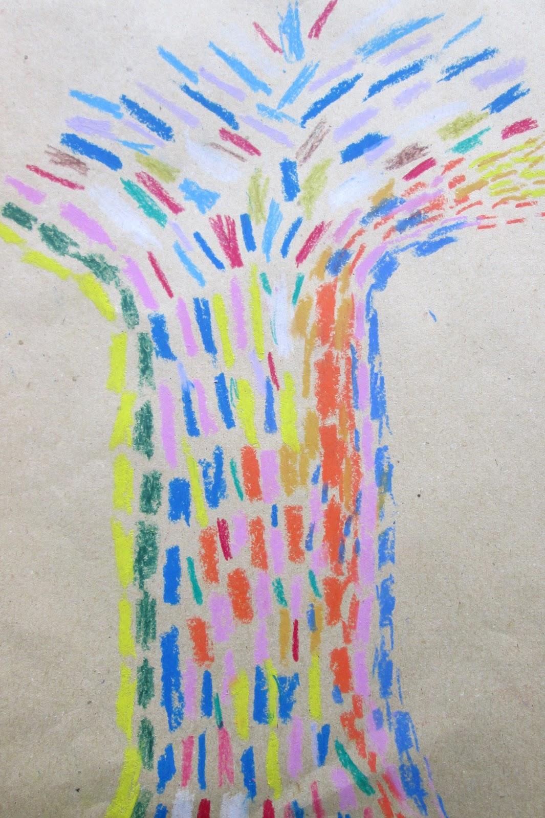 Bambini colori emozioni l 39 albero puntinista - Immagine dell albero a colori ...