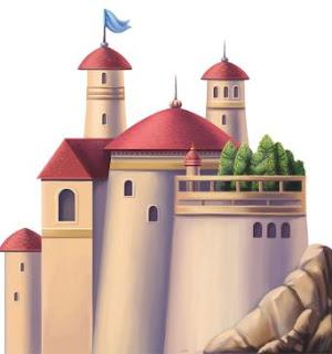 castelo 3d princesas disney par imprimir