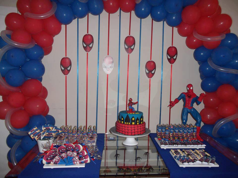 Fazendo Arte por aí! Ideias e dicas para a Festa do Homem Aranha! -> Decoração De Festa Simples Homem Aranha