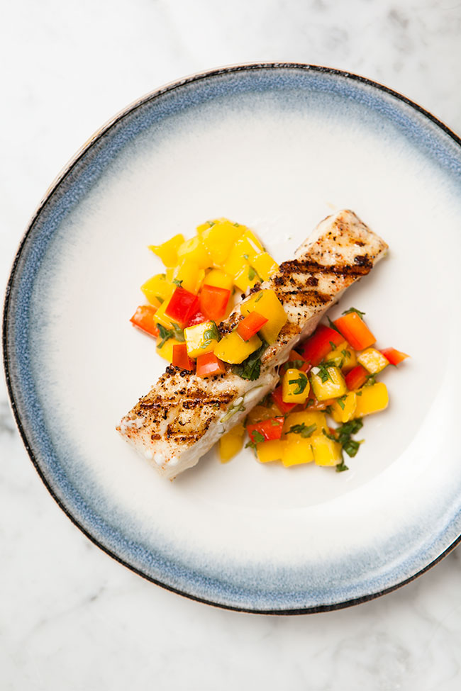 Halibut with Mango Salsa / blog.jchongstudio.com