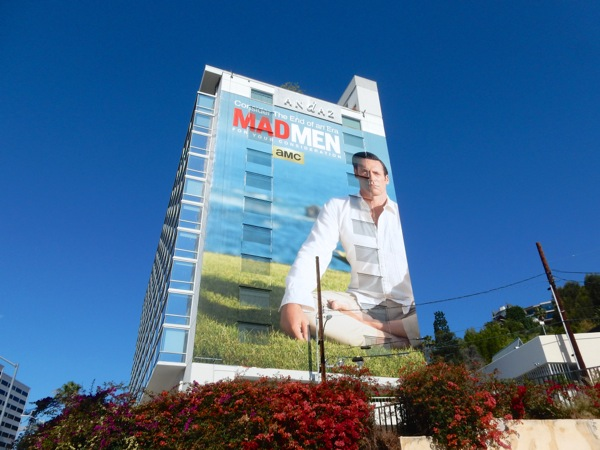 Giant Don Draper Mad Men 2015 Emmy billboard