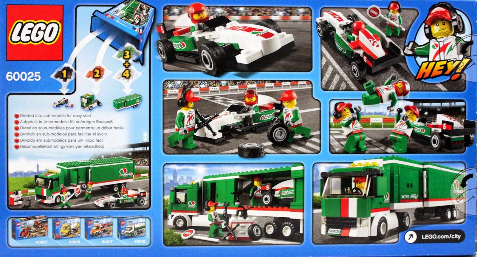 Lubo Creative Bricks Lego City 60025 Octan Racing Truck