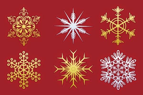 7. 30 Christmas Snowflakes Design (PSD)