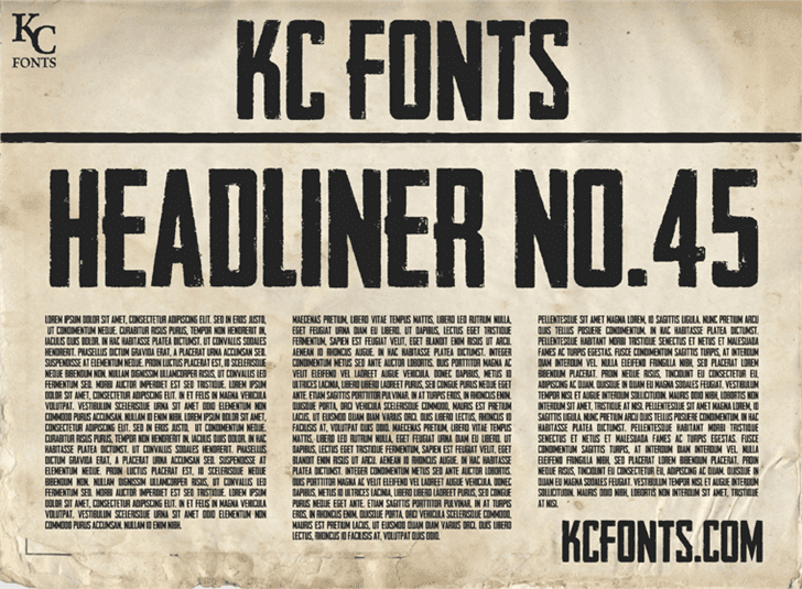 Headliner Font