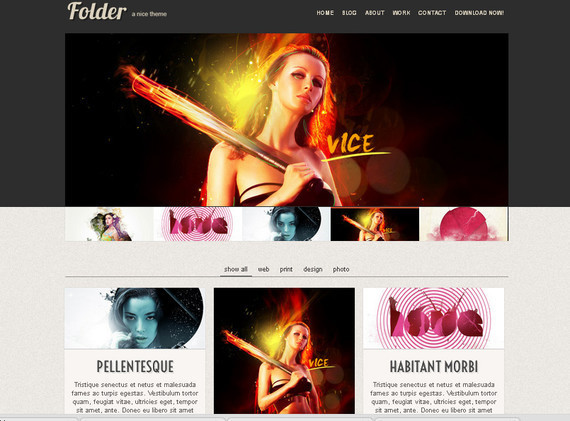 Folder html5 template,html template,html free templates