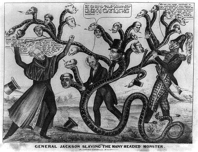 General Jackson slaying the many headed bank monster