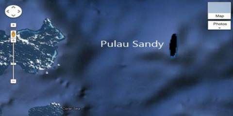 Sandy Island, Pulau Hantu dalam Google Earth