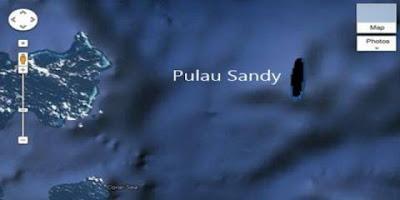 pulau sandy- sland pulau hantu di google earth - blog misteri beda dunia - munsypedia