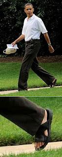Barack Obama - Presidente dos EUA - Pés masculinos