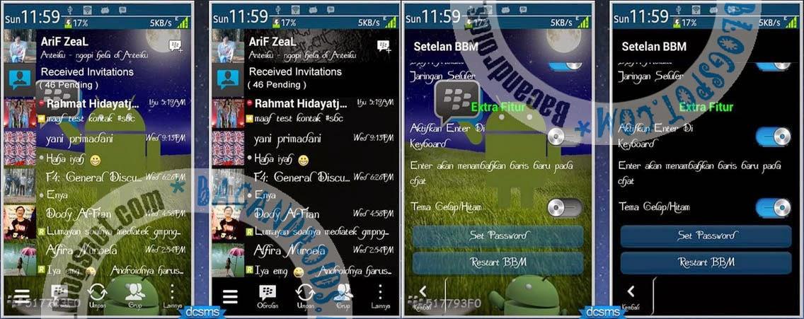 download apk BBM2 Mod GoRankPathTooth Dual Thema(Black dan Transparent)