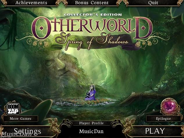 Otherworld: Spring of Shadows Collector's Edition Main Menu