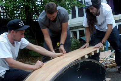 Toby Renton Martyn thomas jamie harrison Building making constructing DIY skateboard obstacles