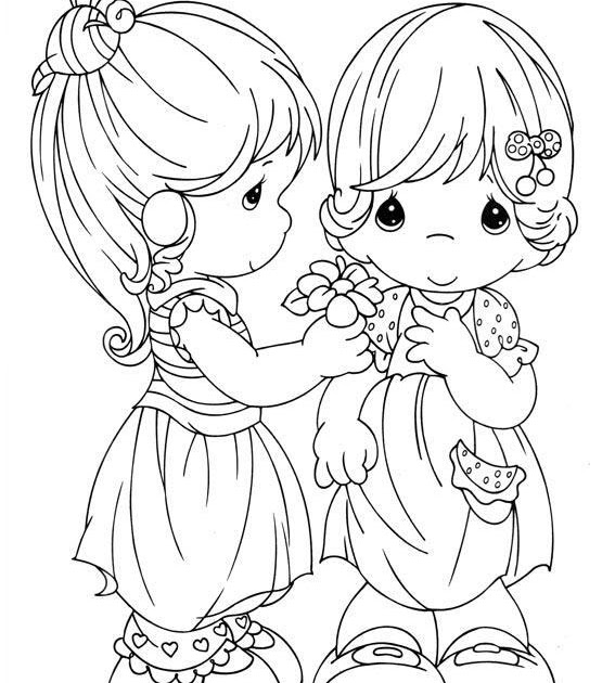 Girls Precious Moments Coloring ~ Child Coloring