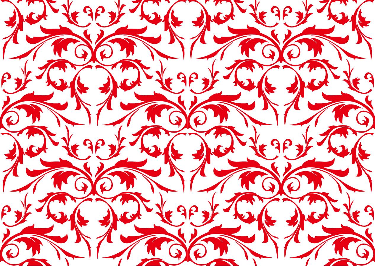 シームレスな植物柄背景 seamless flower pattern shading background イラスト素材