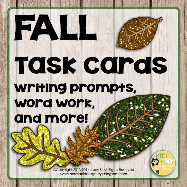 FALL ELA task cards