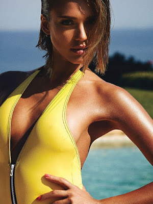 Jessica Alba sexy swimsuit photo shoot Shape Magazine June 2015