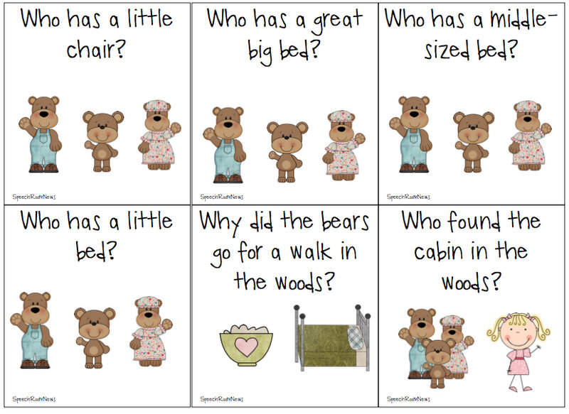 Goldilocks and the Three Bears Sequencing Printables