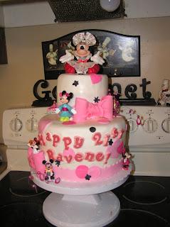 Pretty Minnie Mouse Birthday Cake