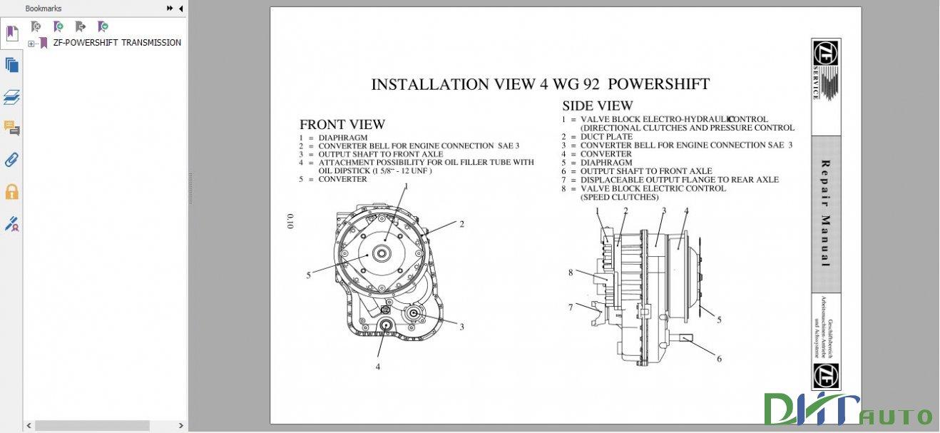dhtauto zf powershift transmission 4 wg 92 repair manual rh wwwdhtauto blogspot com Rebuilt Transmissions Transmission Rebuild Manual