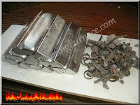 aluminum ingots and engine block metal scrap