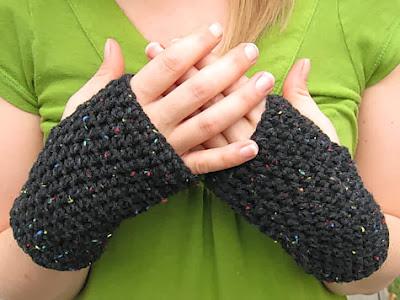 free crochet pattern easy fingerless gloves