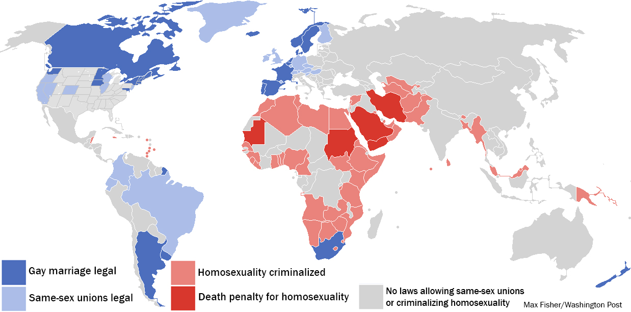 from King best gay rights countries