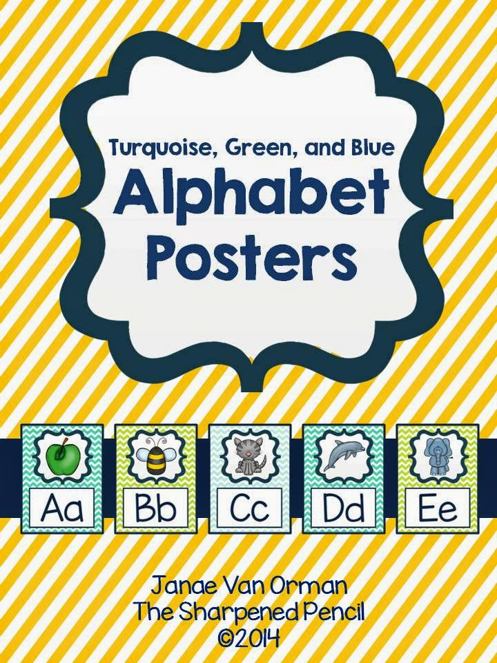 http://www.teacherspayteachers.com/Product/Alphabet-Posters-Turquoise-Blue-and-Green-1343709