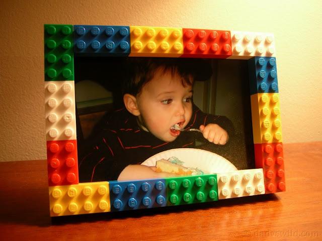Cornice con il Riciclo Creativo Mattoncini Lego