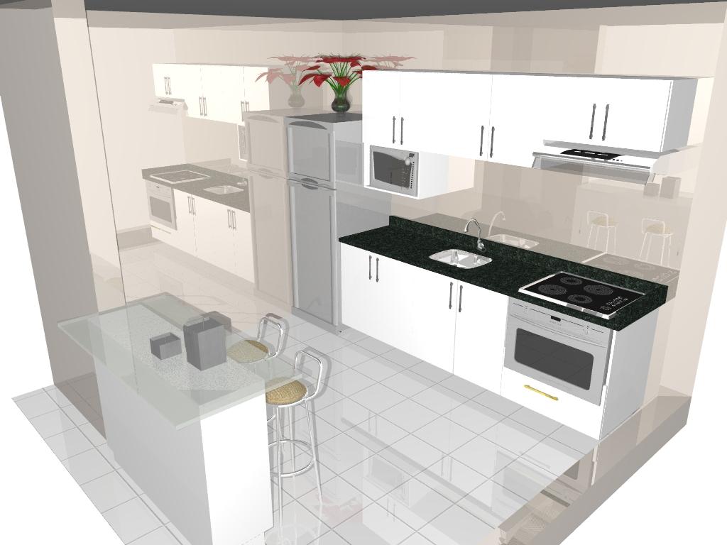 Móveis: Cozinha Compacta Para Apartamentos #7C3532 1024 768