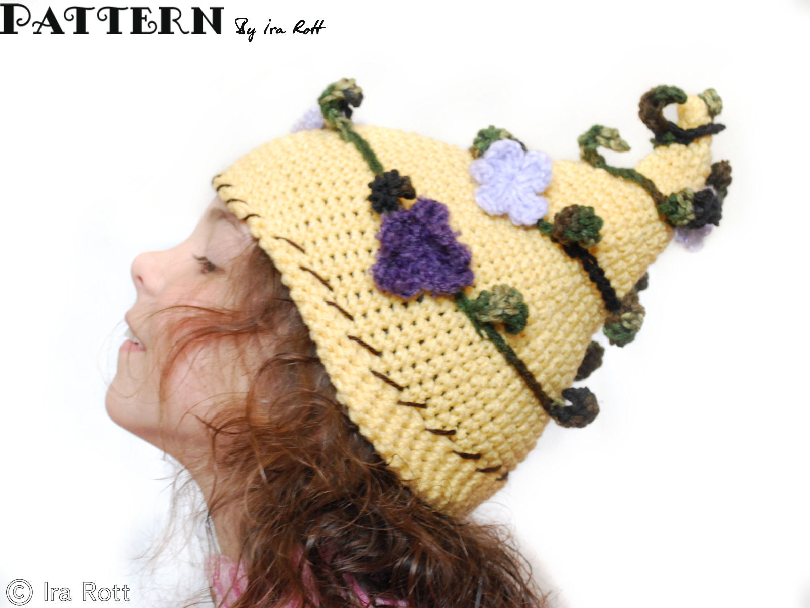 Crochet Pattern Top Hat : Fashion Crochet Design By Ira Rott: Whimsical Pixie Beanie ...