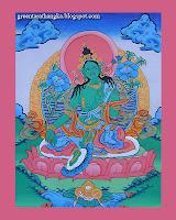 Green Tara Thangka