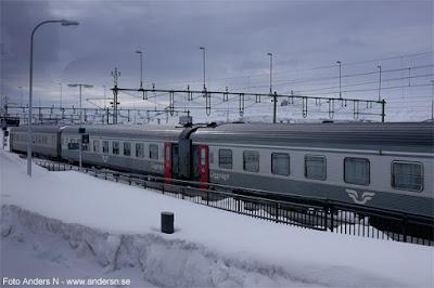 nattåg, Kiruna station, Järnvägsstation