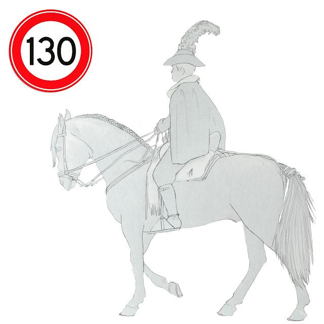 caballo y jinete, velocidad maxima, dibujo