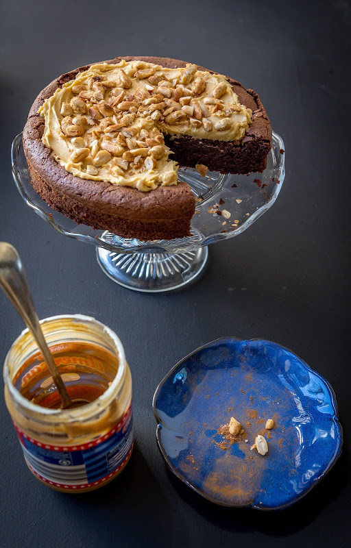 Milk and Honey: Flourless Chocolate Cake with Peanut Butter Cream and ...