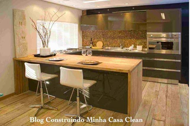 Construindo minha casa clean: 21 cozinhas americanas modernas ...