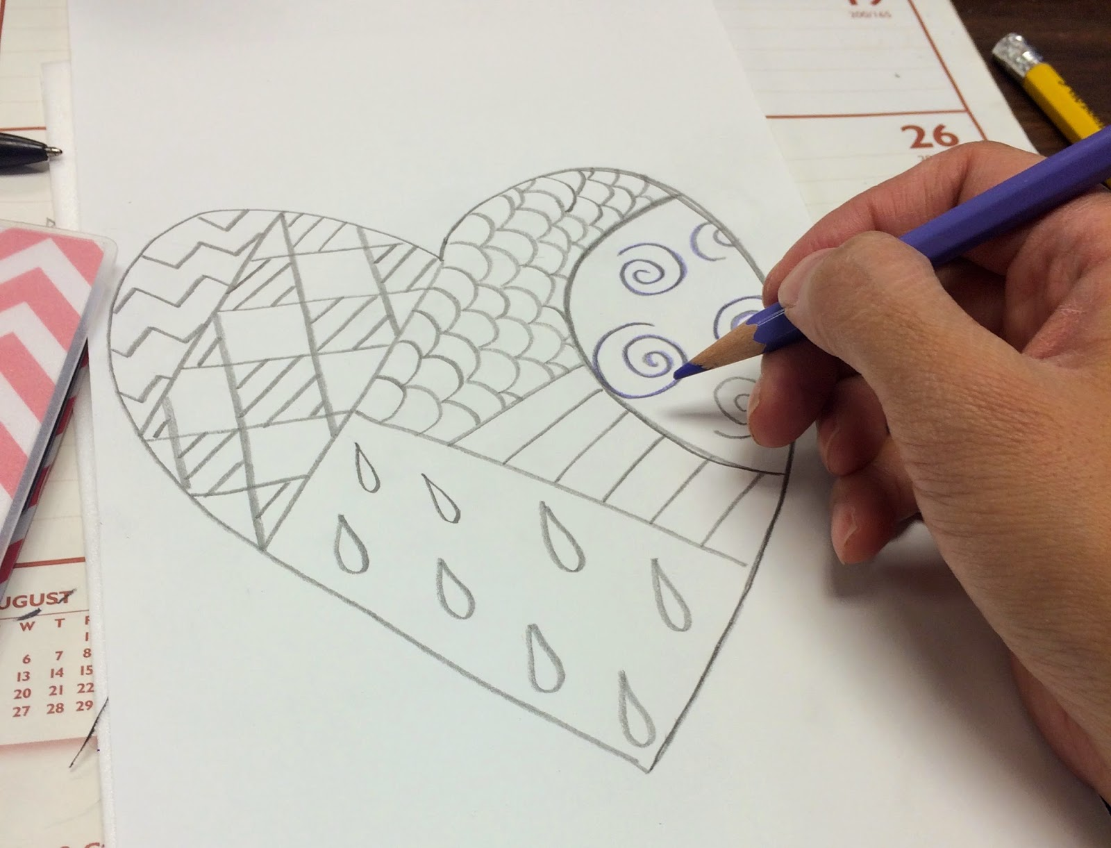 Using A Colored Pencil Trace Over Design Lines Pressing Firmly Into Foam The Is Unnecessary It Just Helps You See Which