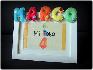 Marco Letras y Nombres en fieltro - ChikiPol