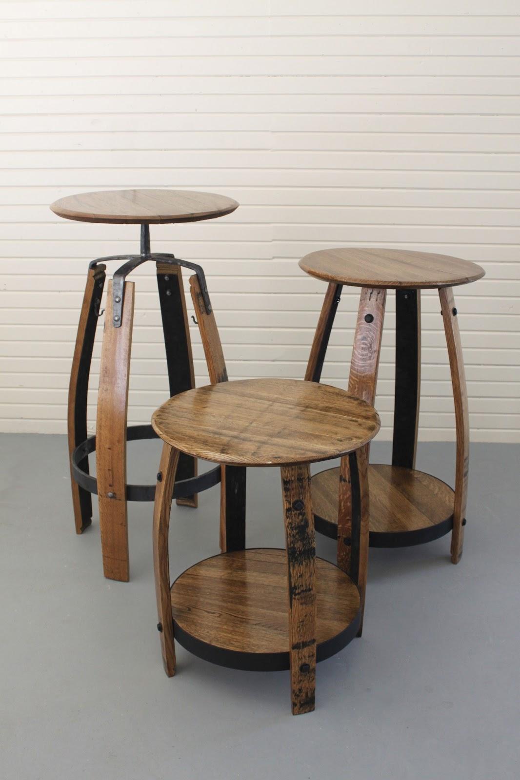 Bourbon Barrel Wood Furniture ~ Maynard studios small batch furniture™ by