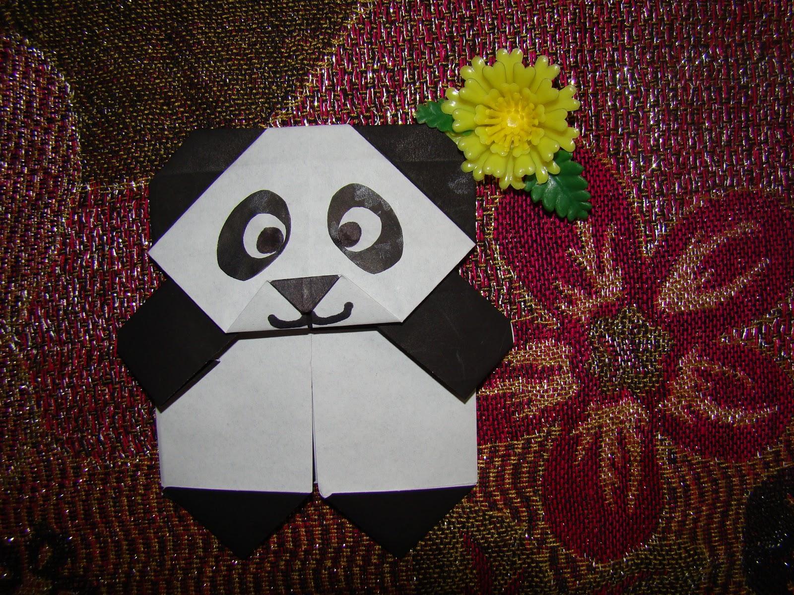 Cute Origami Panda Bear