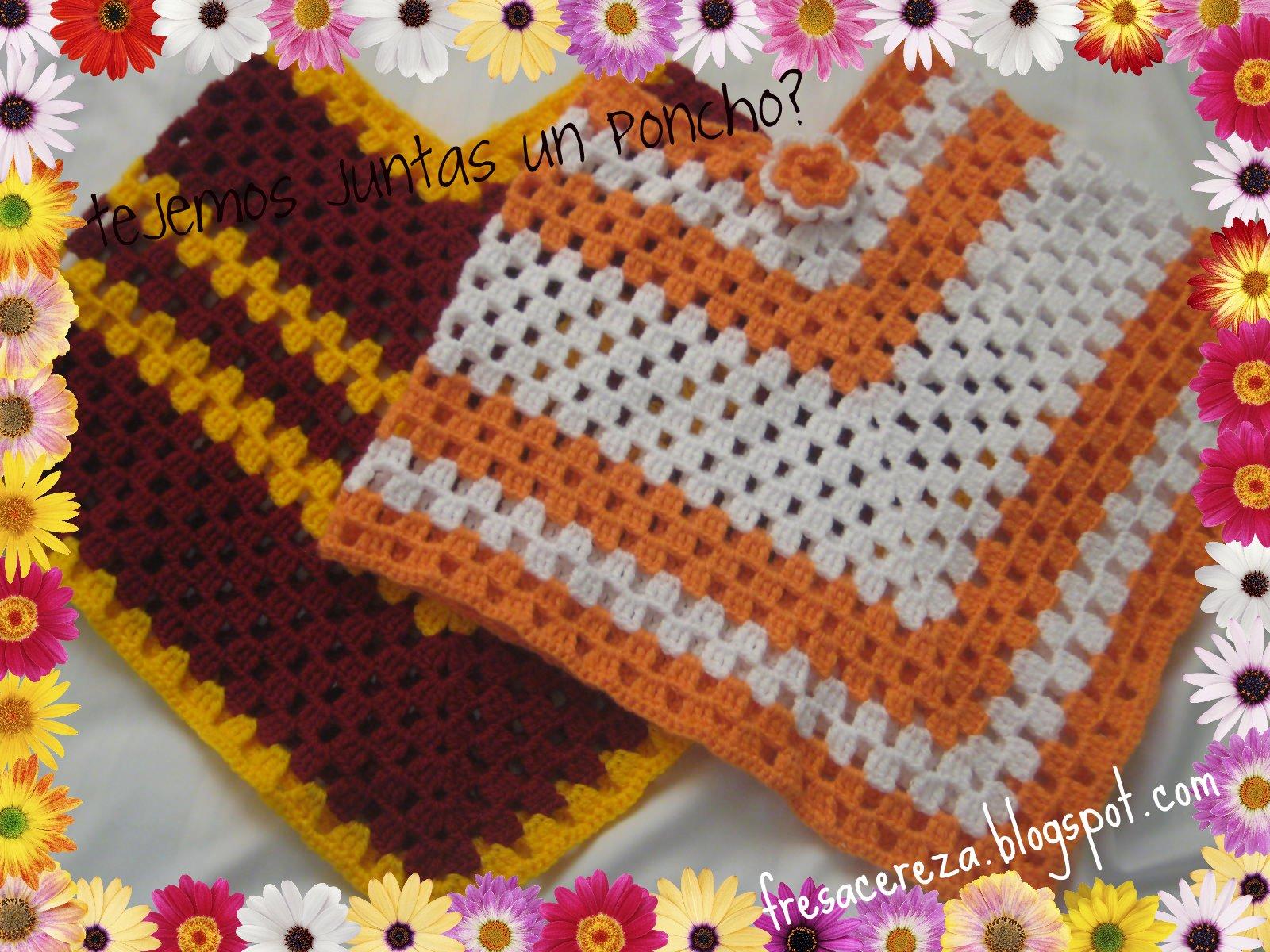 como tejer un poncho a crochet ponchos tejidos tejidos a crochet molde de ponchos con 2. Black Bedroom Furniture Sets. Home Design Ideas