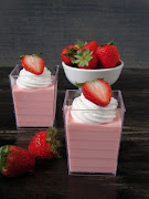 Strawberry Cheese Cake in Jar
