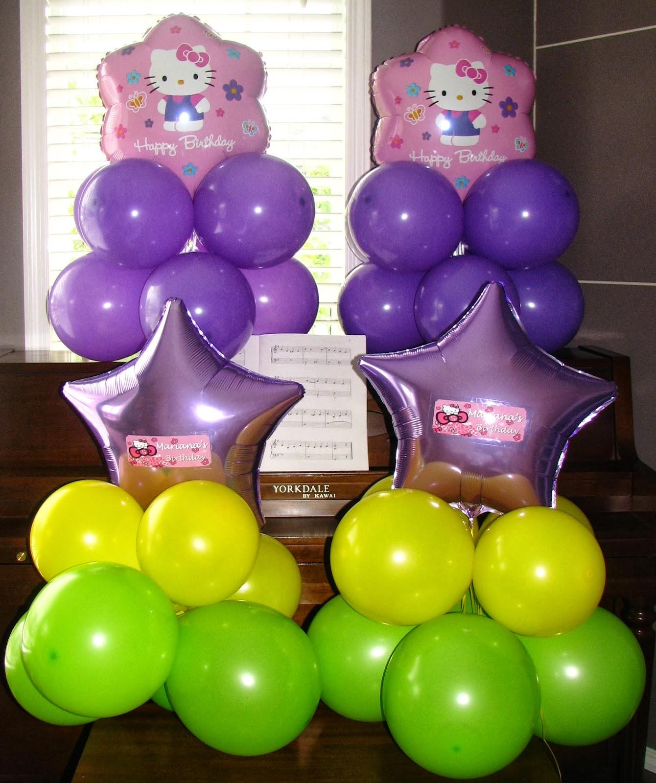 Utopia party decor hello kitty balloons