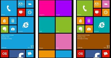Tampilan Windows Phone 8 di Android