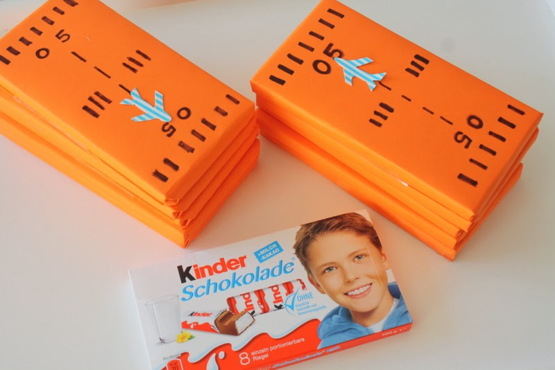 Kinder Chocolate as Planes party Favor
