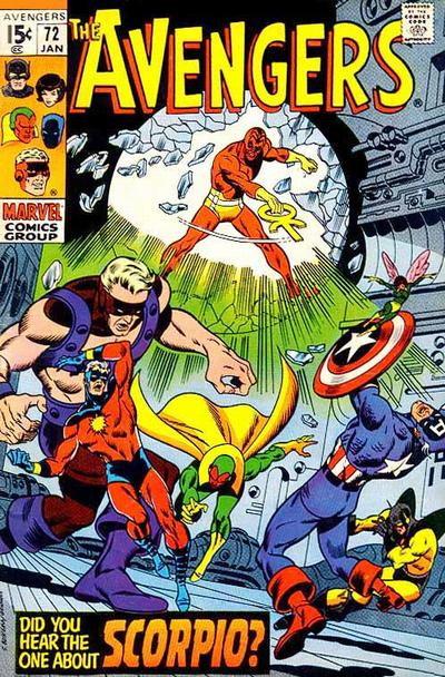 Avengers #72, Scorpio, Sal Buscema cover