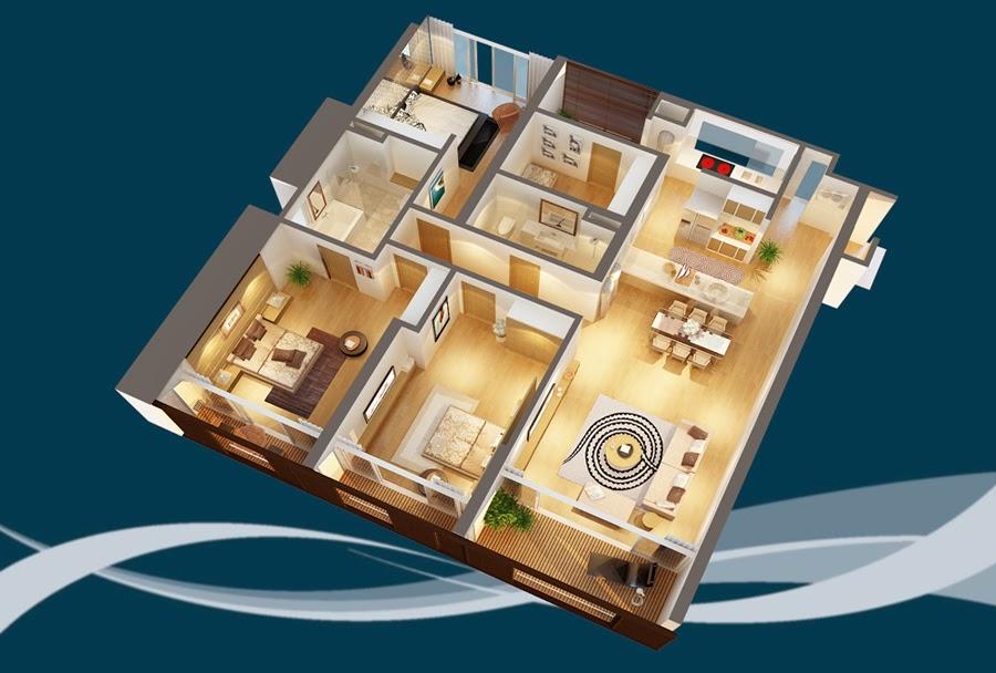 Thiết kế căn hộ CH1 - 182m2 Chung cư Dolphin Plaza