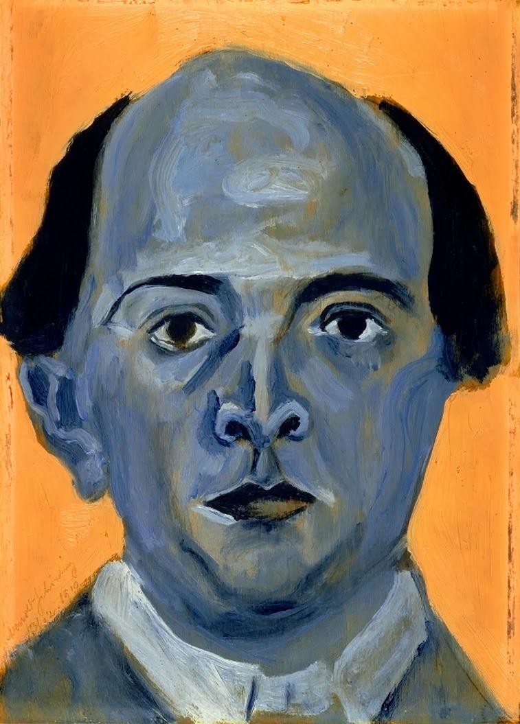 Arnold Schönberg, Autorretrato azul (1911), Arnold Schönberg Center, Viena