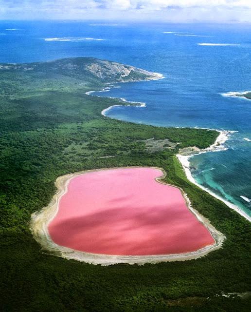 El lago Hillier: El Lago Rosa en Australia